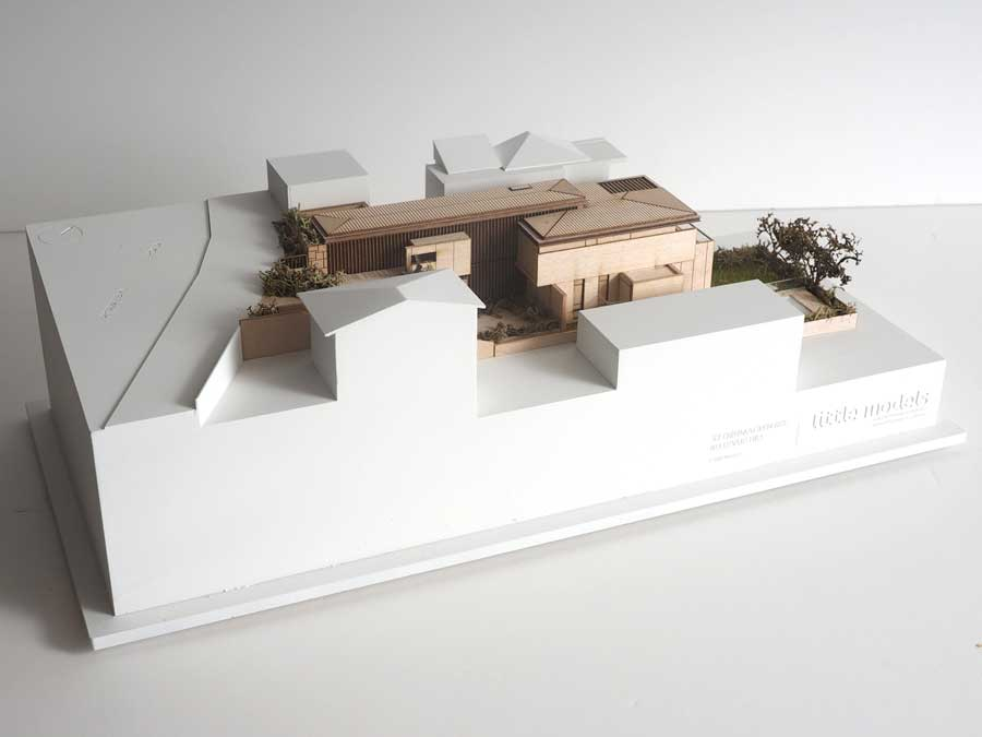 colour architectural model of Omnia apartments